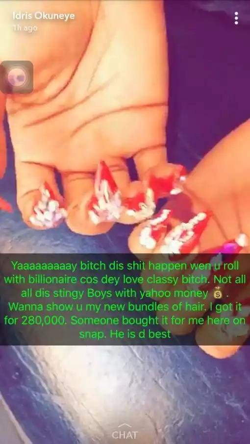 I Roll With Billionaires Not Stingy Yahoo Boys