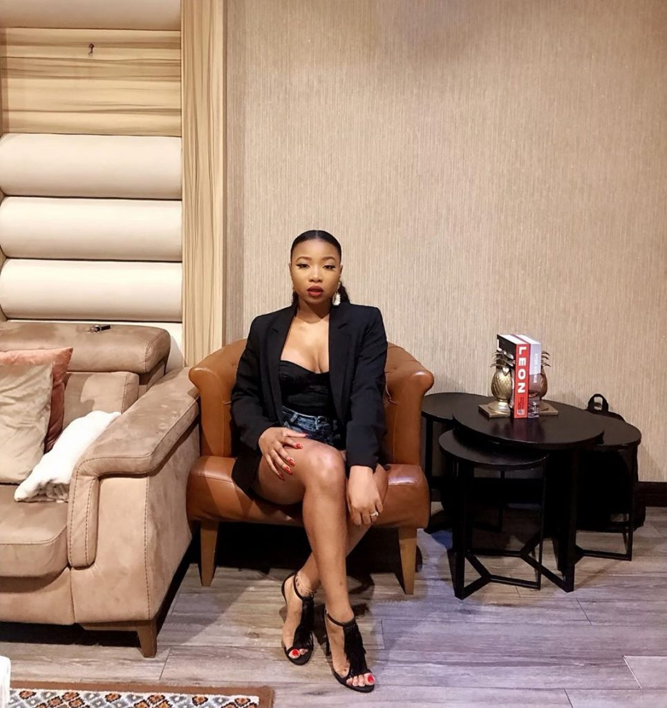 The Ex-Rapper Mocheddah took to her instagram page to share this photo with the caption:-
