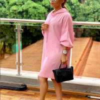 """Toke Makinwa looks stunning as she steps out in pink outfit, she captioned it """"Ice princess for cool kids only"""""""