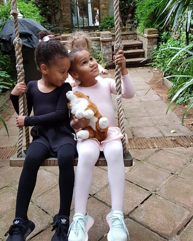"""Super Eagles captain, Mikel Obi shares cute photo of his beautiful twin daughters, Ava and Mia. Gistvic Reports. He captioned: """"My cutest ballerina's ❤️❤️"""""""
