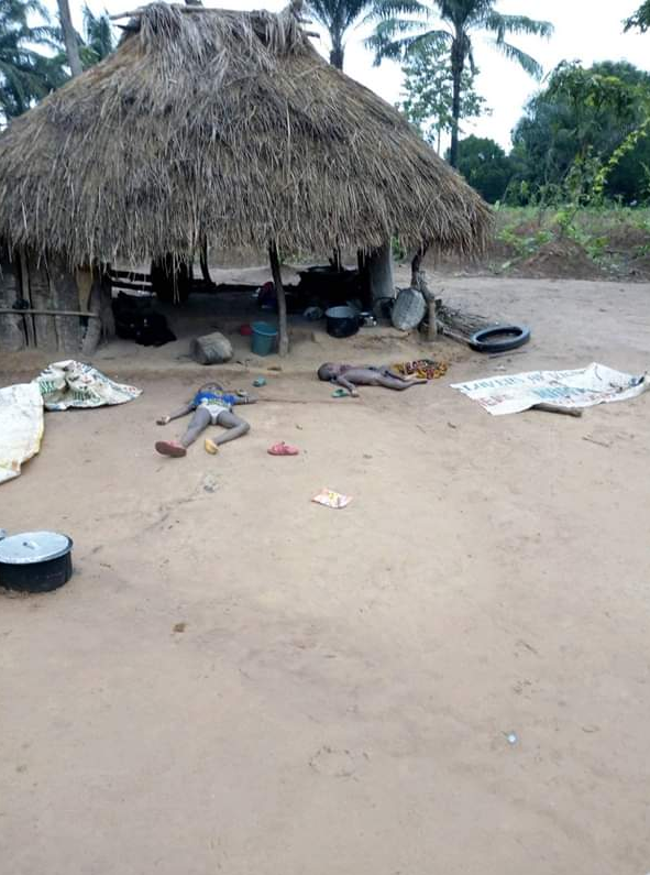 Two children were murdered last night by unknown gunmen in their mother's kitchen in Ebonyi State.Livinus who shared the news wrote….  'Look at the wikednes of man.these two children was murdered yesterday night by unknown gun men at their mothers kitchen in umuogudu Akpu Ngbo Ohaukwu LGA'.