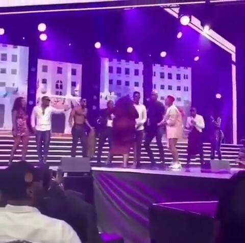 Funke Akindele, Basket Mouth And Ik Osakioduwa's Wives Chase Them Off #Thefalzexperience2 Stage