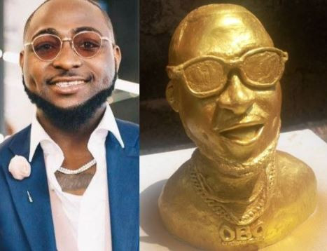 Check Out The Statue Of Davido, What's Your Take On This???