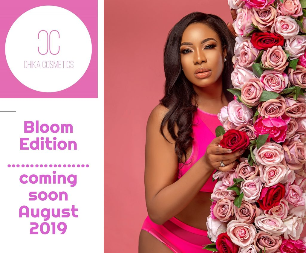 The Actress and business woman who recently graduated from Harvard Business School is set to launch her beauty line Chika Cosmetics starting with the BLOOM Edition .  The cosmetics line will have  a range of products like Makeup,Skincare, fragrances and everything cosmetics. The Big reveal and launch will be in August 2019.