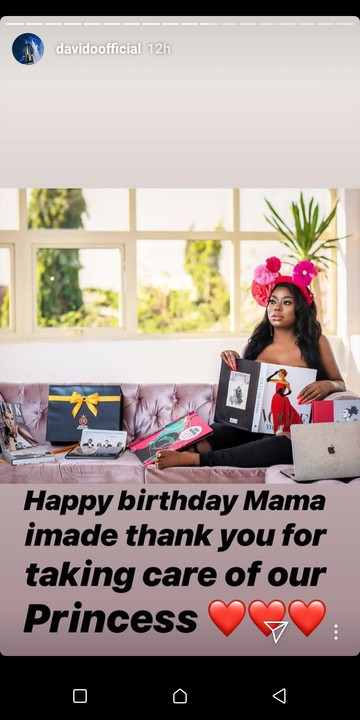 popular music star Davido celebrates his first baby mama sophia Momodu on her birthday, also thank her for taking care of their princess davido daughter Imade.