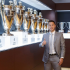 Former Chelsea star, Eden Hazard who was recently unveiled as Real Madrid new player after a €150 deal, poses with collection of trophies…