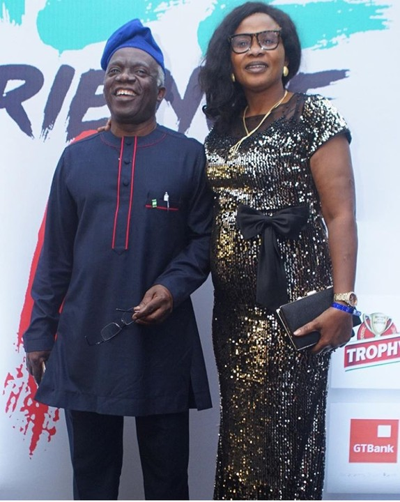 Falz hosted the second edition of his concert 'TheFalzExperience2' yesterday and his parents, Femi and Funmi Falana were in attendance spotted on the red carpet.