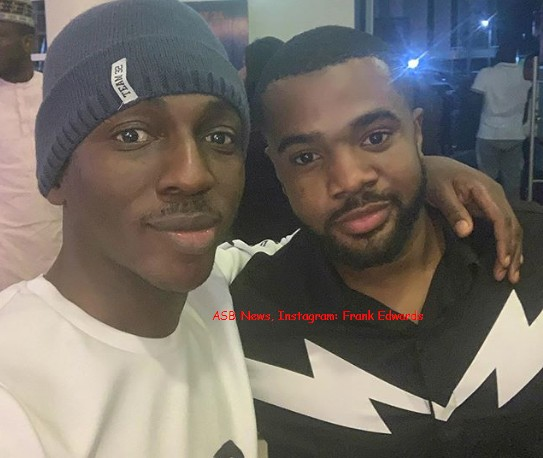 Nigerian gospel singer Frank Edwards have shared a photo of himself hanging out with actor and skit lord, Williams Uchemba.  Uchemba is a famous child actor who is now popularly known by his funny skits he shares on Instagram and YouTube.