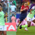 """Super Falcons player, Francisca Ordega who was part of the Nigerian women team who reached the knockout stages of the Women's World Cup for the first time in 20 years, has revealed that she once slapped her ex-boyfriend for looking at another lady. According to Francisca Ordega, she slapped her ex-boyfriend for looking at another lady because the jealousy was obvious and she wondered if the lady was prettier than her. She told Punch's Kelvin Ekerete; """"Off the field, my first boyfriend ever, we were together and were going out. I was younger then, I was really young. We were going out and there was this very pretty girl that was so cute, cuter than me, and my boyfriend was just staring at her and I was like, 'Hey! What are you looking at?' And a lot of people were there, lots of them and I didn't even know when I slapped him like, 'Hey! What are you looking at? Is she prettier than me?' I did it with all seriousness and everything. The jealousy was just obvious. I was so jealous at that moment and everyone was just laughing at me. In our language (Tiv) they said, 'Take care of your property, I like your spirit, carry on.' I was so embarrassed but now it's always fun to me anytime I remember it or when I see him. If we get to see each other, he usually asks me, 'I hope you've stopped this drama thing?' And I'll be like, 'Hey! I've stopped.' So, it's kind of crazy."""""""