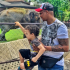 Nollywood Actor 'IK Ogbonna' was recently pictured with his Cute Son at a Zoo…