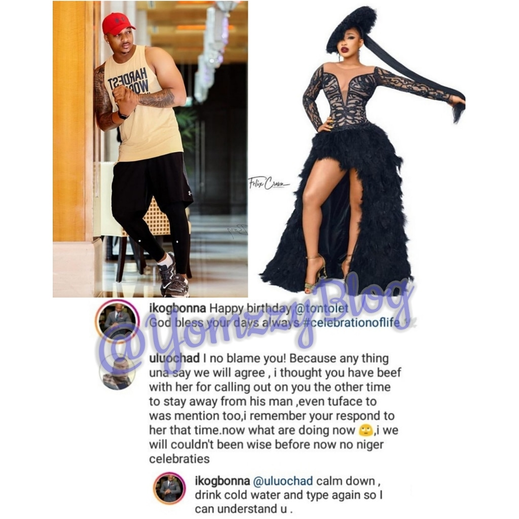 It seems the beef between Nollywood actors, IK Ogbonna and Tonto Dikeh who put each other on blast on social media, has finally ended as he sent a birthday shout out to her.
