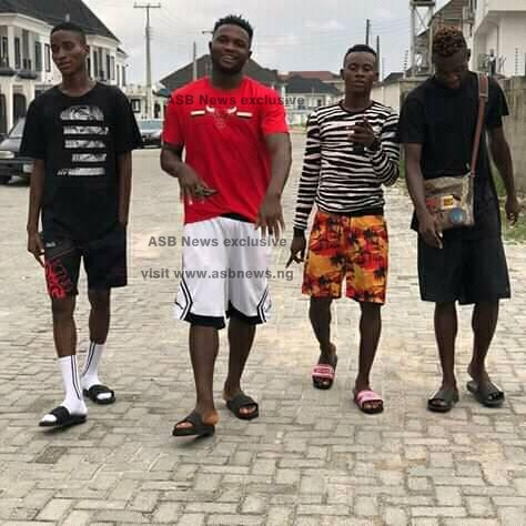 Watford FC and Super Eagles forward, Isaac Success was spotted chilling with his friends in Benin City, on Monday, ASB News reports.  The 23-year-old forward was snubbed by Super Eagles manager, Gernot Rohr for the AFCON 2019.   Success who has been capped twice for Nigeria is now enjoying his vacation with his friends in Benin City, Edo state after missing out of the AFCON 2019 squad.