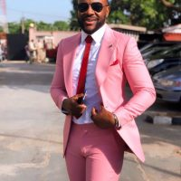 They say pink is a woman's colour but Ebuka Obi Uchendu sure slayed in this one, didn't he? He wore the pink suit for a wedding.