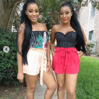 Nollywood identical twin actresses, Tracy and Treasure slays in bum shorts. Good morning fabulous friends, may this new week favour you. *swipe left and checkout @tracydanielz and @treasuredanielz Summer outfit emkudus #Cute #Beautiful…