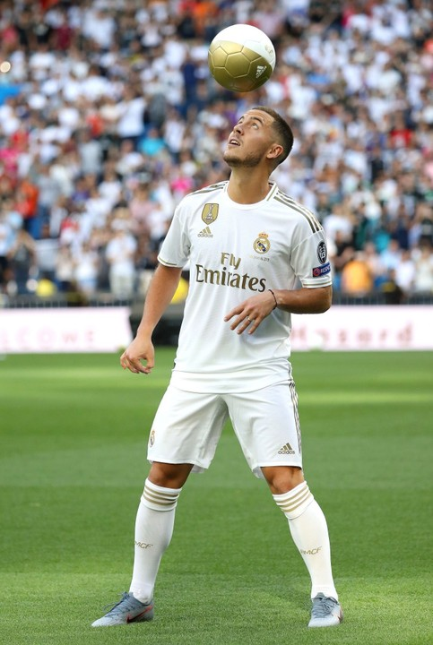 After the unveiling to Hazard today, the Belgium player was spotted wearing the new real Madrid kit…
