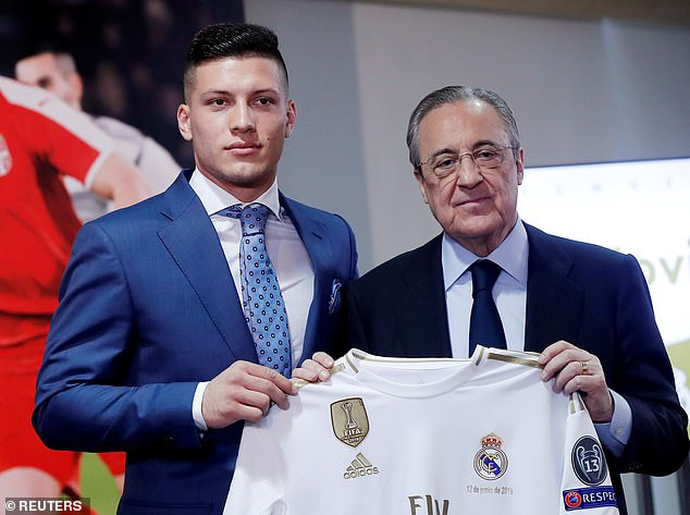 Real Madrid Unveil Luka Jovic At The Bernabeu Following £62m Move From Eintracht Frankfurt (Photos)
