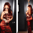 Singer Rihanna Is All Shades Of Gorgeous In These New Photos The pop star shared these stunning new photos of herself posing in a sexy wine satin dress.