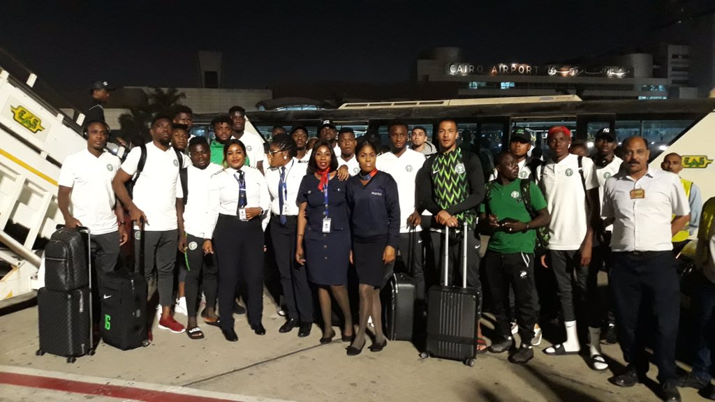Three-time African champions, the Super Eagles of Nigeria yesterday landed in Ismailia, 12 days ahead of the kick-off of the 2019 Africa Cup of Nations to be staged in Egypt. The Super Eagles left the shores of Nigeria few hours after the Technical Adviser of the team, Gernot Rohr released names of the 23 players who will prosecute the championship for Nigeria.