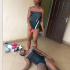 """A teenage girl reacted horribly and caused a scene after abusing drugs in Abuja. The girl, reportedly aged 17, and another friend, aged 15, went to the National Stadium in Abuja. While there, the older girl consumed an illegal drug and began reacting to it. The younger girl narrated how the incident unfolded. She said her older friend has experimented with drugs before at her home during her brother's birthday. She claimed the girl took """"small drop"""" on that day. Narrating how the latest incident occurred, the girl, named Favour, said she and her older friend and some others were hanging out. She bought Coke for them but they refused to take it and she wasn't aware when they went to buy the drug her friend reacted to. The one who took the drug can be seen on the floor rolling and screaming while calling Favour to take her home."""