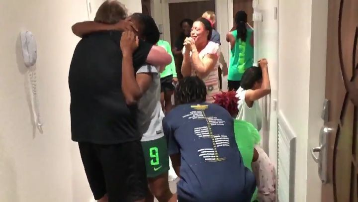 See the moment the Super falcons out Nigeria founds out they had progressed out of the group stage at the 2019 FIFA woman's world cup in France. Watch Video below