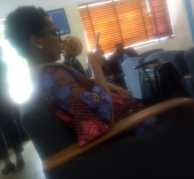 Former BBNaija housemate, TBoss who has been rumored to be pregnant, was spotted at the Medicaid Radio Diagnostic center in Abuja yesterday July 9th. She was looking very heavy in the photos. TBoss has not confirmed or denied that she's pregnant.   Instead, she has over time asked everyone to mind their business as her personal life is off the limit to the public.
