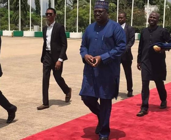 Nigerian senate president, Ahmad Lawan is currently in Egypt to support Super Eagles as they take on Algeria in an epic AFCON semi-final match tonight. Confirming his trip to Egypt, Lawan tweeted, 'earlier today, I departed Nigeria for Egypt as the leader of the Fed. Govt. delegation for the #TOTALAFCON2019 semi-final match between Nigeria and Algeria. I'll be physically present at the Cairo International Stadium to cheer the SuperEagles to victory'.