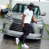 Popular showbiz impresario -Ayo Makun, famously known as AY recently took delivery of two vehicles. The hardworking comedian earlier today published a photo of himself posing in front of one of the vehicles – a Lexus LX570. The LX 570 is certainly comfort defined. When inside, the exterior noise is nicely muted, and the seats are plush without being too dainty. The LX 570 comes with a standard kit such as an adjustable electro-hydraulic suspension system, a permanent four-wheel-drive system with dedicated low-range gearing. The drive mode is in five different off-road variants: Rock, Rock and Dirt, Mogul, Loose Rock and Mud, and Sand. It has a very effective climate control system despite lacklustre front-seat ventilation. The Lexus LX 570 is an excellent machine for driving through urban jungles such as Lagos. This SUV is reportedly a 10th Year Wedding Anniversary gift from AY to his wife, Mabel.