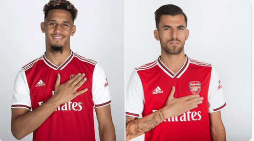 Arsenal have unveiled double summer signing of Dani Ceballos from Real Madrid and Saint-Etienne defender William Saliba.The 22-year-old Spain international moves to Emirate Stadium on a season-long loan, while the young centre-back joined Gunners for a fee rising to €30m (£26.9m) before loaning him back to the French club for one year.Ceballos draw plenty of interest from North London rival Tottenham Hotspurs after helping captain Spain win the U21 European Championship this summer but Arsenal took to their official website to confirm that they had won the race for his signature.The Gunners had been locked in negotiations over a deal for the 18-year-old, with the structure of payments and Saint-Etienne's demands that the player be loaned back to the club making an agreement hard to reach. Ceballos made just 13 La Liga starts for Los Blancos, often struggling to displace Luka Modric and Toni Kroos from the starting lineup and has been given the No 8 shirt by Arsenal as he expected to fill the void left by Aaron Ramsey's recent departure to Juventus.Saliba who broke into Les Verts' first team last season, making 16 appearances in Ligue 1.  Source:- FCNaija