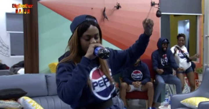BBNaija introduced a new task 'Pepsi Know Da Lyrics challenge' which every housemates will choose from the written lyrics of Pepsi brand Ambassadors, Wizkid, Tiwa Savage, Tekno, Davido, Burna Boy and Teni and perform.  At of the 17 housemates, Jackye and Seyi made it to the final, where Jackye defeated Seyi to become winner of 'Pepsi Know Da Lyrics challenge' worth 1.5 million naira and a VVIP ticket for the Pepsi One Africa Music Fest in Dubai.