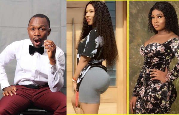 Ushbebe during his performance at Akpororo's show in Lagos last night, called Big Brother Naija housemates, Mercy and Tacha 'known prostitutes'. Explaining why men need 'English and Packaging', Ushbebe called the reality show's housemates 'prostitutes' and further dragged Tacha for not being respectful. The claim has already sparked a controversy on social media and here is the video below;