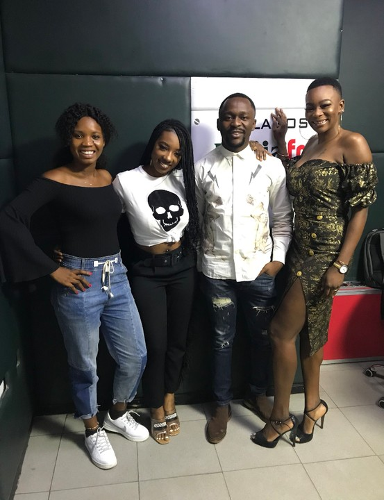 BBNaija 2019 Media Tour:- Comedian Ushbebe Poses With Evicted Housemates, Avala And Isilomo   Former big brother naija housemates, Avala and Isilomo are beginning to mingle with top celebrities as they strikes a pose with comedian Ushbebe and Dat Warri Girl during their media to Naija FM in Lagos.  Avala and Isilomo are the first housemates to be evicted from BBNaija season 4.