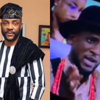 BBNaija 2019 host Ebuka OBI-Uchendu and one of the housemate, Omashola had a very hilarious chat during the Sunday live eviction show. While Omashola was giving Ebuka an update on the love and relationship going on in the house, he revealed he had nobody even after trying so hard. Omashola say he has tried so hard but