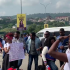 COZA members attempt to stop peaceful protest against their pastor Fatoyinbo Following the ongoing massive protest by some concerned Nigerians against the Commonwealth of Zion Assembly, COZA, Pastor, Biodun Fatoyinbo, who was accused of serial rape by the Timi Dakolo's wife, Busola and many other ladies, a counter protest group has emerged, displaying placards in solidarity to the pastor.