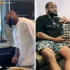 Leader of the 30billion Gang, Davido seen doing the controversial soapy dance. He was seen doing the soapy in the kitchen, social media users blasted him for encouraging the dance as they compared him with WizKid, while others appreciated him for acknowledging the work of others.