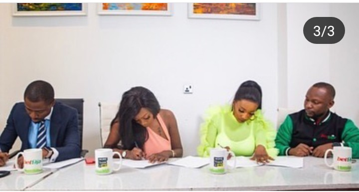 Evicted BBNaija Housemate, Avala And Isilomo Sign 1st Endorsement Deal (Photos)