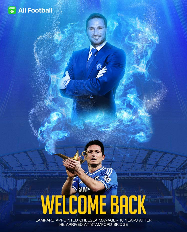 Frank Lampard Returns As Chelsea Manager Welcome back, Frank! Lampard officially returns to Stamford Bridge as new Chelsea manager OFFICIAL STATEMENT: One of the greatest players in our history during his long and illustrious career, Lampard returns to Stamford Bridge having signed a three-year contract.