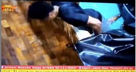 BBNaija housemate, Ike is celebrating his birthday today as he gets thrown into the pool. Gistvic Reports.  We could recall, Mercy and Ike were the first partners in the Big Brother Naija 2019 edition to thrill viewers with romantic relationship as both housemates kissed after expressing interest in each other.