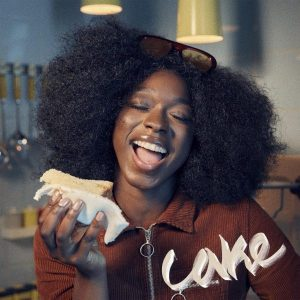 "Juls teams up with Mr Eazi as they deliver this song, titled ""Cake"""