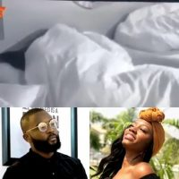 "The relationship between Khafi and Gedoni took another turn last night, as they were allegedly caught having sex while wrapped under the sheets. The ""sex scene"" had some ""witnesses"" which were Diane and Tuoyo. Diane was having a heart-to-heart talk with Tuoyo on not knowing who she will loose her virginity to or when she plans to, and they stared in shock when the bed Khafi and Gedoni laid on gave off some squeaky sound."
