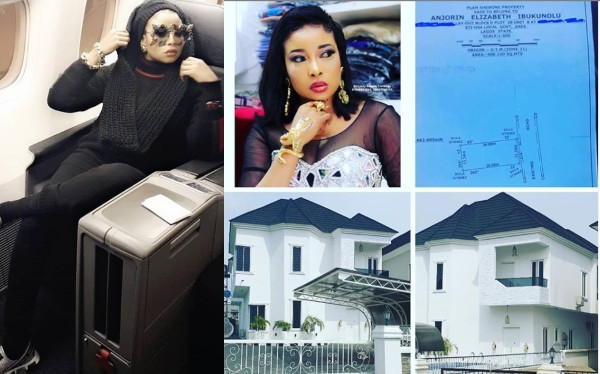 Liz Anjorin Shows Off Her New House      Liz Anjorin has another asset in her name, which is a newly built Lagos houseshe showed off on Instagram.