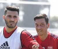 "Arsenal confirm players were involved in incident in north London; Metropolitan Police say no arrests have been made as enquiries continue Arsenal duo Mesut Ozil and Sead Kolasinac are both unharmed after escaping an attempted robbery in London on Thursday. Footage of the attack shows the pair in an altercation with suspects on a motorbike wielding a weapon. Arsenal have confirmed both passenger Kolasinac and driver Ozil were involved in the incident and are both unharmed. The club are treating it as a ""private matter"" and say it does not affect the players' pre-season training. Metropolitan Police were called to Platts Lane in north London, where they spoke to both players who had travelled to a nearby restaurant during the incident. The police say no arrests have been made, as their enquiries continue. Sky Sports News spoke to Yasmin Tahsiner, the co-owner of the restaurant, who said the two attackers on the motorbike confronted Kolasinac outside his home as he was meeting Ozil and his wife, who were in the German's car. The attackers demanded Kolasinac hand over his watch and chased him, Ozil and Ozil's wife when he refused, according to the co-owner of the restaurant they fled to during the attack She said: ""They asked him [Kolasinac] straight away 'give me your watch'. Then when they tried to attack him, he tried to go inside the car. ""From the other door, the attacker tried to go inside of the car as well. When Ozil drove the car, they chased them with the motorbike for 15 minutes."" Ms Tahsiner said the attackers chased the players and Ozil's wife until they reached her restaurant and that they had badly damaged Ozil's car with ""stones and bricks"". She said she, as well as the passengers in the car, saw the attackers wielding a metal weapon, although they did not believe it was a knife. Mesut Ozil, his wife and Sead Kolasinac were chased for 15 minutes by attackers armed with weapons, says Yasmin Tahsiner, the restaurant owner they fled to Ms Tahsiner said she knows the players well and that they were OK following the attack, although Ozil's wife was the most shaken of the trio. Metropolitan Police said in a statement: ""Police were called to Platts Lane, NW3, shortly before 17.00hrs on Thursday, 25 July to reports of an attempted robbery. ""It was reported that suspects on motorbikes had attempted to rob a man who was driving a car. ""The driver, along with his passenger, managed to get away unharmed and travelled to a restaurant in Golders Green, where they were spoken to by officers. Source:- SkySports"