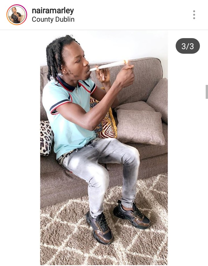 Naira Marley Wraps & Smoke Almighty Weed (igbo) – See Zlatan Comment   Naira Marley Posted two Photos on Instagram, one is when he is wrapping the weed (igbo) and the other one is when he is smoking.  See photos below…
