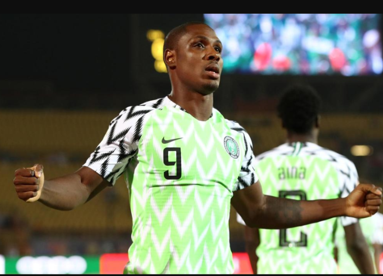 Super Eagles of Nigeria striker,Odion Ighalohas won the Africa Cup of Nations Golden Boot award after finishing top of the goal-scorer standings.  TheShanghai Shenhua striker finished the tournament with five goals ahead ofRiyad Mahrez, Adam Ounas, Cedric Bakambu, andSadio Mane who all scored three goals respectively.