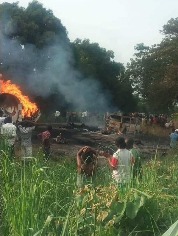 Tanker Explosion In Benue, Many Dead, Others Injured (Photos) Over fifty people lost their lives today inGwe-East Local Government, Benue State due to tanker explosion.It is unclear what led to the explosion.