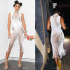 American singer, Kelly Rowland is being mocked online over the bizarre dress she wore to the Australian television series, The Voice on Monday. The 38-year-old singer who was one of the judges rocked a white dress, which had a high neck and a see-through honeycomb pattern but some of her fans were unimpressed with her outfit. One person Tweeted: 'Kelly Rowland looks like an orange in a mesh bag tonight'. Another person chimed in: 'Kelly out here looking like a mango' while someone else Tweeted: 'Why does @KELLYROWLAND look good even when dressed as a mango?'
