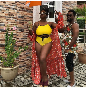 Check Out How Waje Steps Out In Bikini, What Do You See In The Picture? Top female musician, Waje rock swim-wear.