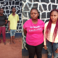 """The Anambra state police command have arrested two """"one chance"""" robbery suspects and their female accomplices. A statement from the command says the suspects were arrested after their failed attempt to rob a 30-year-old woman, Nwanye Philomina of her N400, 000 on Tuesday July 30th."""