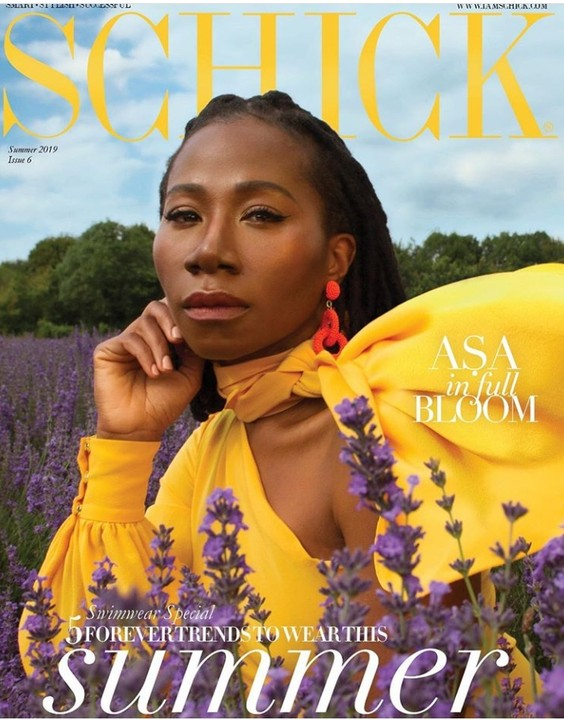Singer Asa makes it to the face of Schink Magazine. This is probably a debut of this kind to her fans.