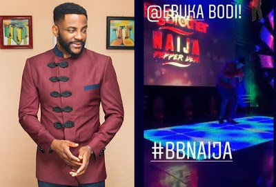 BBNaija host, Ebuka was seen dancing zanku and gbe body as he go hailed and cheered by fans. Ebuka was looking all dapper as he dressed for the BBN Sunday live eviction show.
