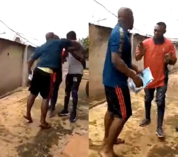 A yet-to-be identified man was spotted in a viral video locking in and assaulting some Enugu Electricity Distribution Company (EEDC) staff over move to disconnect his apartment from the power grid.